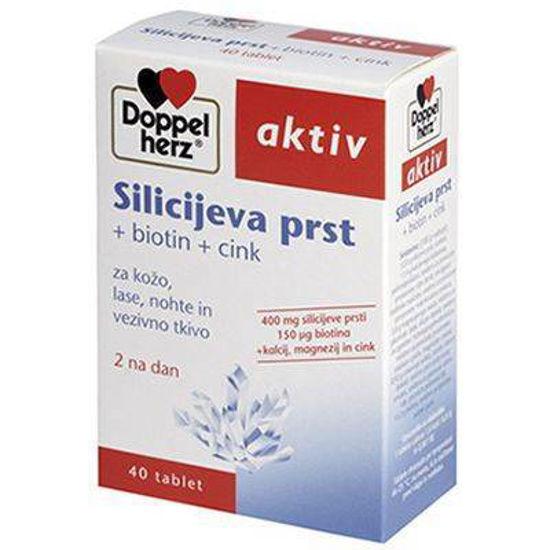 DoppelHerz silicijeva prst + biotin + cink, 40 tablet
