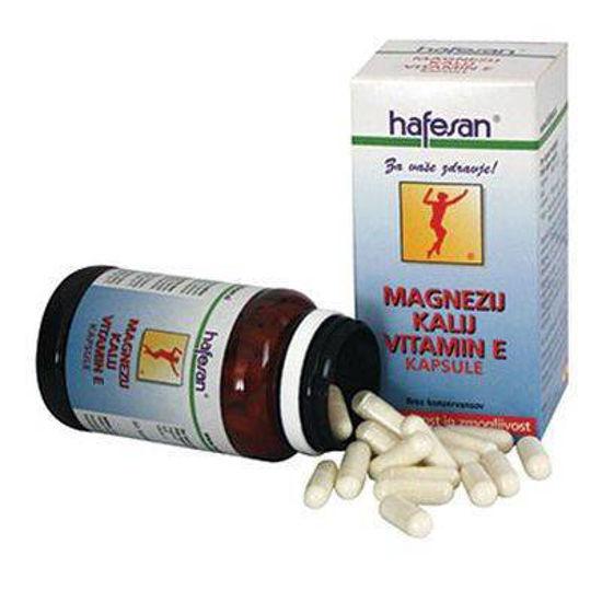 Hafesan magnezij, kalij in vitamin E, 60 kapsul ali KOMPLET