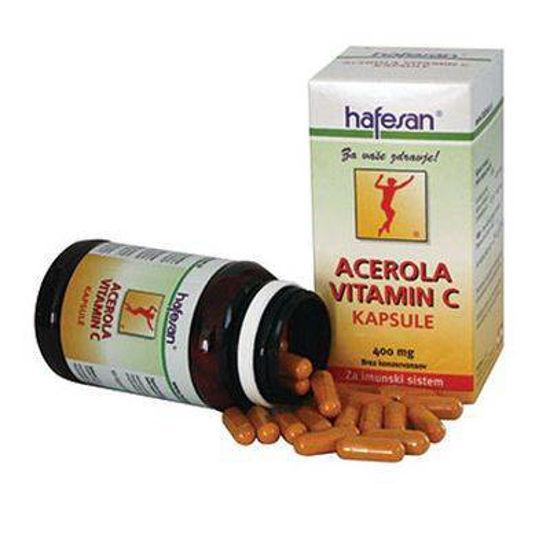 Hafesan acerola vitamin C, 60 kapsul ali KOMPLET