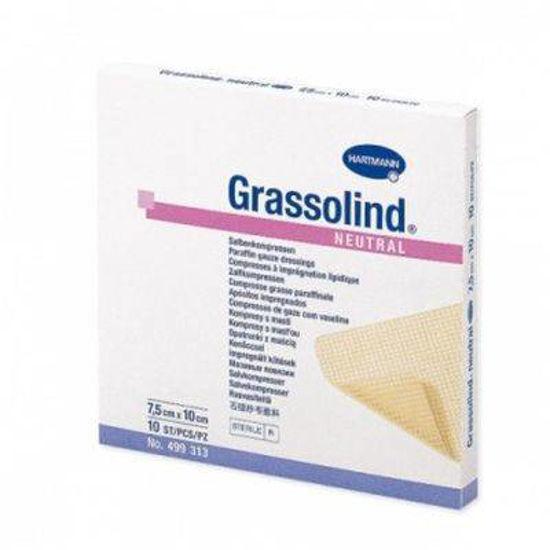 Grassolind neutral parafinske komprese - 10x10cm, 10 kom