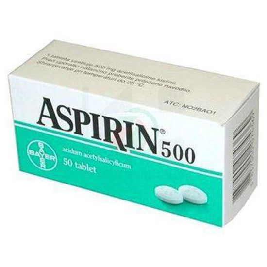 Aspirin 500 mg, 50 tablet
