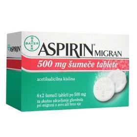 Slika Aspirin migran, 12 šumečih tablet