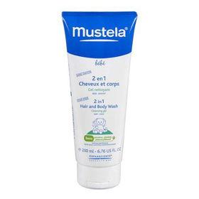 Slika Mustela 2 v 1 šampon za lase in telo, 200 mL