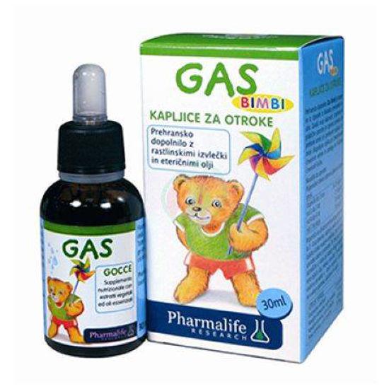 Gas Fitobimbi kapljice za otroke, 30 mL