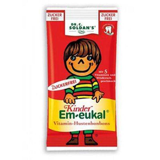 Dr. Soldan Em-Eukal trdi bonboni brez sladkorja za otroke, 75g