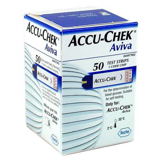 Accu-Chek Aviva testni lističi za glukozo, 50 lističev