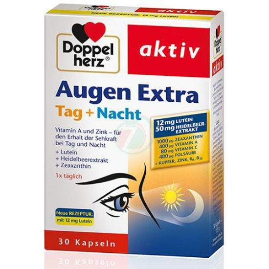DoppelHerz Augen Extra kapsule dan + noč, 30 kapsul