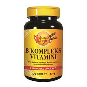 Slika Natural Wealth B kompleks vitamini, 100 tablet