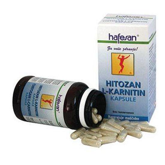 Hafesan hitozan L-karnitin, 60 kapsul ali KOMPLET