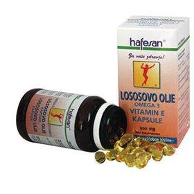 Slika Hafesan lososovo olje omega 3 in vitamin E, 80 kapsul ali KOMPLET