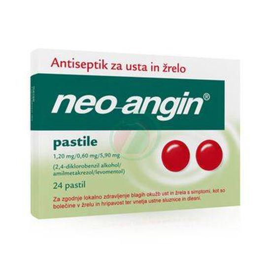Neoangin s sladkorjem, 24 pastil