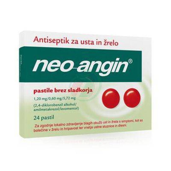 Neoangin brez sladkorja, 24 pastil