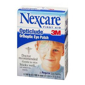 Slika Nexcare 3M opticlude očesne gaze (za otroke ali za odrasle), 20 gaz