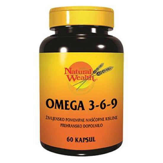 Natural Wealth omega 3-6-9, 60 kapsul