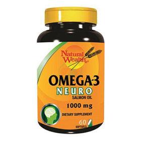 Slika Natural Wealth omega-3 neuro, 60 kapsul