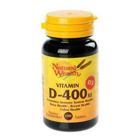 Slika Natural Wealth vitamin D in D3, 100 tablet