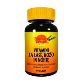 Slika Natural Wealth vitamini za lase, kožo in nohte, 60 tablet