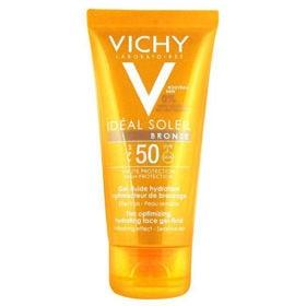 Slika Vichy Ideal Soleil Bronz vlažilni gel-fluid s SPF 50, 50 mL