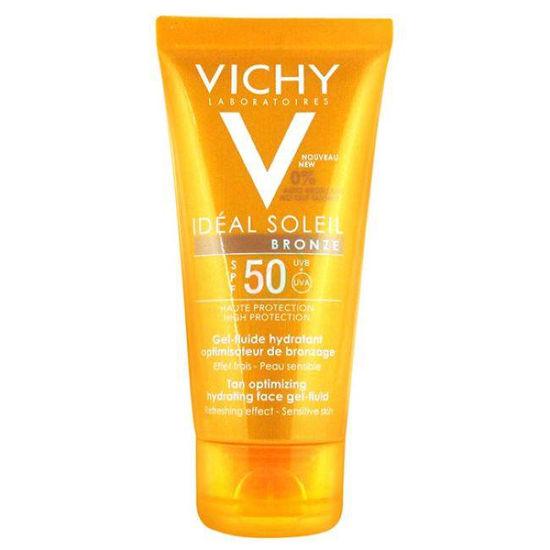 Vichy Ideal Soleil Bronz vlažilni gel-fluid s SPF 50, 50 mL