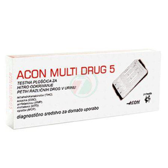 Acon multi drug 5 urinski test, 1 test