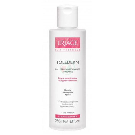 Uriage Tolederm voda za čiščenje obraza, hiperreaktivna/občutljiva koža, 250 mL