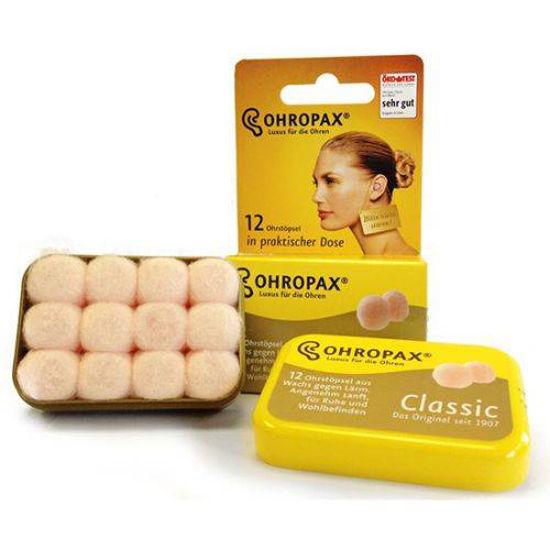 Ohropax classic voščeni zamaški, 12 zamaškov