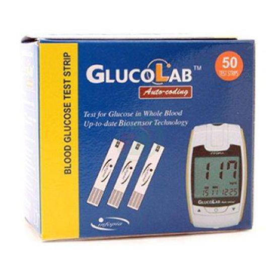 Testni lističi Glucolab, 50 testnih lističev