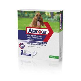Slika Ataxxa 2000 mg/400 mg kožni nanos raztopina za pse nad 25 kg, 4 mL