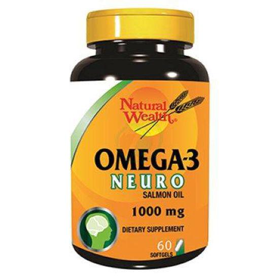 Natural Wealth omega-3 neuro, 60 kapsul