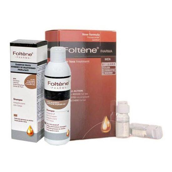 2x Foltene ampule za moške + šampon proti prhljaju (GRATIS)