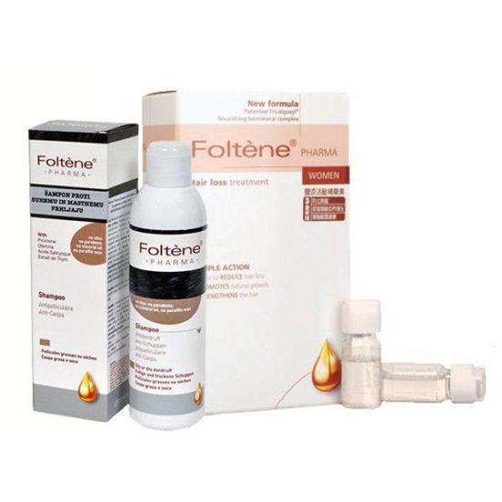 2x Foltene ampule za  ženske + šampon proti prhljaju (GRATIS)