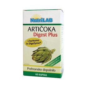 Slika Nutrilab Artičoka Digest Plus, 60 kapsul