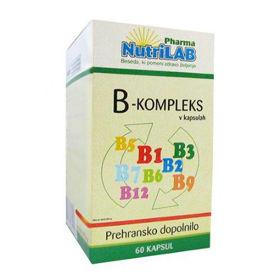 Slika Nutrilab vitamini B-kompleksa, 60 kapsul
