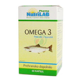 Slika Nutrilab omega 3 500 mg, 60 ali 150 kapsul