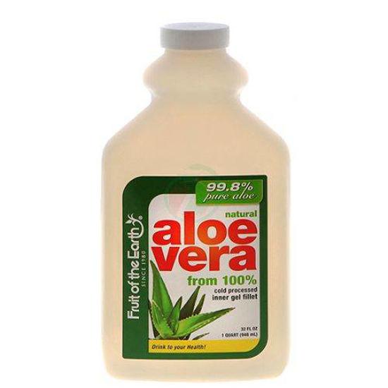 Fruit of the Earth 100 % rastlinski sok Aloe vere brez dodatkov, 946 mL