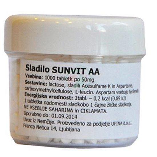 Sunvit sladilo za diabetike, 1000 tablet