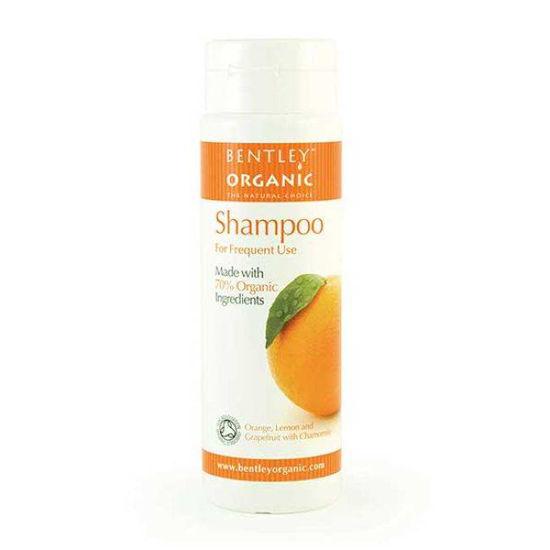 Bentley Organics naravni šampon za pogosto pranje las – sladka pomaranča, kamilica, 250 mL