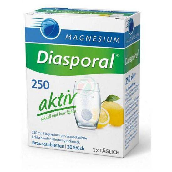 Magnesium Diasporal 250 Aktiv, 20 šumečih tablet