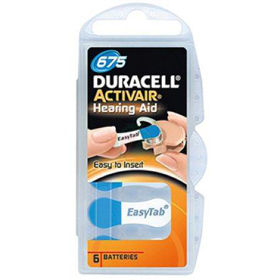 Slika Duracell activair baterije za slušni aparat TIP 675, 6 kom.