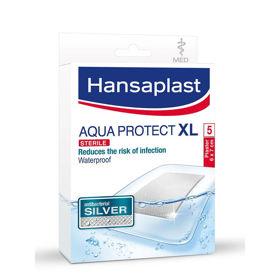 Slika Hansaplast Aqua Protect Silver XL s srebrom, 5 obližev