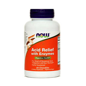 Slika Now Acid Relief prebavni encimi, 60 tablet