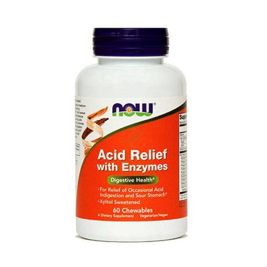 Now Acid Relief prebavni encimi, 60 tablet