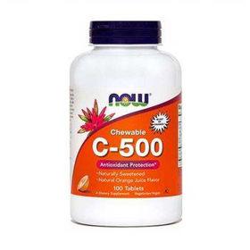Slika Now C-500 žvečljive tablete, 100 tablet