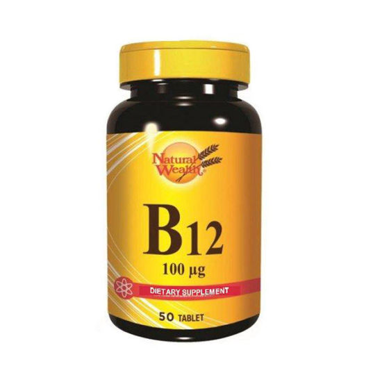 Natural Wealth B12 vitamin 100 µg, 50 tablet