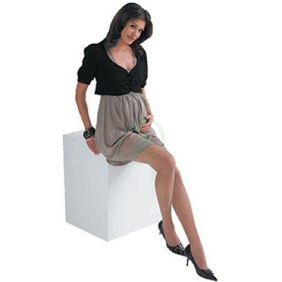 Scudotex ženske nosečniške hlačne nogavice 140 DEN odtenek Visone, 1 nogavice