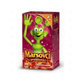 Slika Marsovci žvečljive tablete s prebiotiki z okusom jagode, 30 tablet