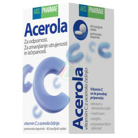 Ars pharmae acerola, 90 žvečljivih tablet
