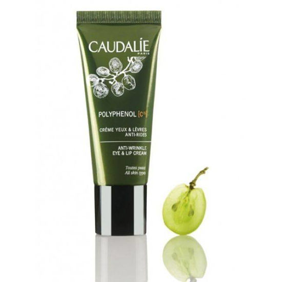 Caudalie Polyphenol C15 krema za okrog oči in ust, 15 mL