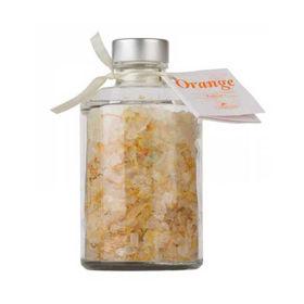 Slika La Nature orange grenivkina sol za kopanje z ognjičem v okrasni steklenici, 250 g