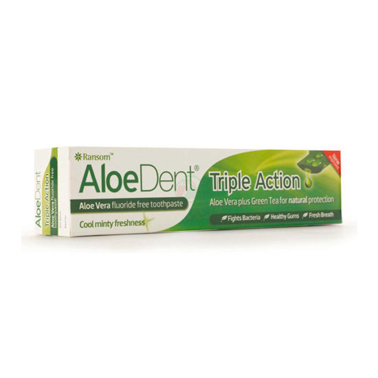 AloeDent Triple action zobna krema s Q10 in čajevcem, 100 mL